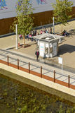 Widok z lotu ptaka wodny kiosk przy wystawą, expo 2015 Mediolan Fotografia Stock