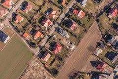 Widok z lotu ptaka Wrocławscy miast przedmieścia Zdjęcie Royalty Free