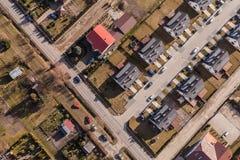 Widok z lotu ptaka Wrocławscy miast przedmieścia Obraz Stock