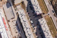 Widok z lotu ptaka Wrocławscy miast przedmieścia Obrazy Royalty Free