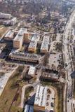 Widok z lotu ptaka Wrocławscy miast przedmieścia Zdjęcie Stock