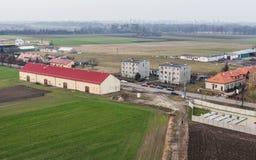 Widok z lotu ptaka Wrocławscy miast przedmieścia Zdjęcia Royalty Free