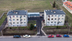 Widok z lotu ptaka Wrocławscy miast przedmieścia Zdjęcia Stock