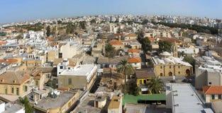 Wschodni stary miasto Nikozja, Cypr, widok z lotu ptaka zdjęcie royalty free