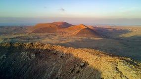 widok z lotu ptaka wulkan Obraz Royalty Free