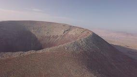 Widok z lotu ptaka wulkanu krater zdjęcie wideo