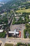 Widok z lotu ptaka Wykonawczy dwór w Albany, Nowy Jork Zdjęcie Royalty Free