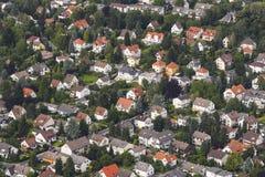 Widok z lotu ptaka żywy teren w Schwalbach zdjęcia royalty free
