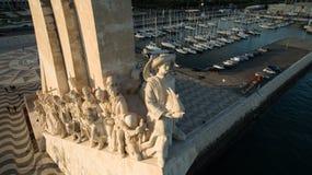 Widok Z Lotu Ptaka zabytek odkrycie, Belem okręg, Lisbon, Portugalia zakończenie Fotografia Royalty Free