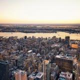 Widok z lotu ptaka Zachodni NJ i NY Fotografia Stock