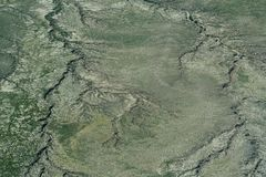 Widok z lotu ptaka ziemia Obraz Stock