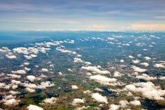 Widok z lotu ptaka ziemia uprawna Zdjęcie Stock