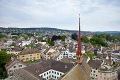 Widok z lotu ptaka Zurich Zdjęcia Stock