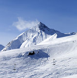 Widok z na piste narty skłonie Zdjęcia Stock