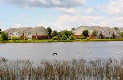Widok z naprzeciw jeziora Fotografia Stock