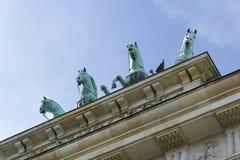 Widok z przodu Brandenburg bramy Zdjęcia Stock