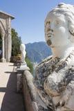 Widok z statuami od miasta Ravello, Amalfi wybrzeże, Włochy, Zdjęcia Royalty Free