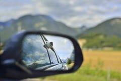 widok z tyłu lustra Fotografia Royalty Free