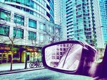 widok z tyłu lustra Zdjęcie Stock
