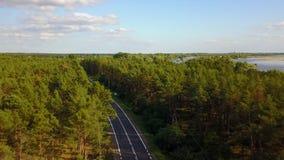 Widok z wierzchu drogi zdjęcie wideo