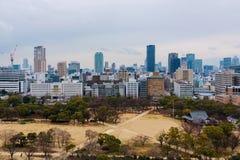 Widok z wierzchu Himeji kasztelu zdjęcia royalty free