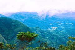 Widok z wierzchu ` księżyc równiien `, Srilanka zdjęcia stock