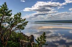 Widok z wierzchu Lena filarów parka narodowego Zdjęcia Stock