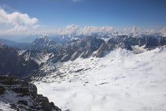 Widok z wierzchu Niemcy, Zugspitze góra Obraz Royalty Free