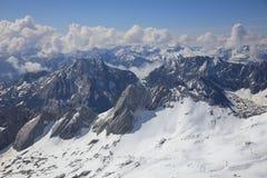 Widok z wierzchu Niemcy, Zugspitze góra Obraz Stock