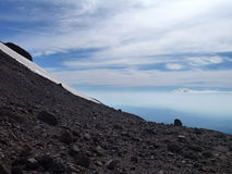 Widok z wierzchu sierra nevado grań w chile Zdjęcie Royalty Free