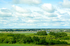 Widok z wierzchu wioski fotografia royalty free