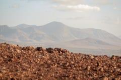 Widok z wierzchu wulkanu zdjęcie stock