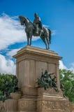 Widok zabytek na cześć Garibaldi w Gianicolo parku przy Rzym Obraz Stock