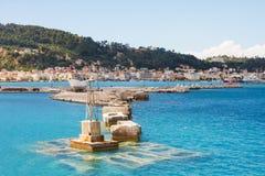 Widok Zakynthos, Grecja zdjęcie royalty free