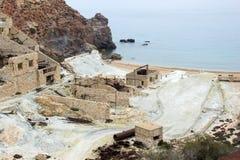 Widok zaniechana kopalnia morzem od góry zdjęcie royalty free