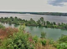 Widok Zaporoska rzeka Zdjęcia Royalty Free
