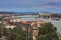 Widok Zarazy i Buda część Budapest Fotografia Royalty Free