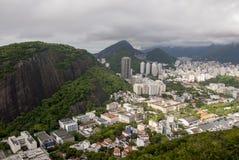Widok zatoczka Botafogo w Rio De Janeiro zdjęcia stock