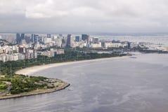 Widok zatoczka Botafogo w Rio De Janeiro obrazy royalty free
