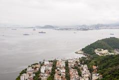 Widok zatoczka Botafogo w Rio De Janeiro fotografia stock