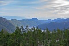 Widok zatok wyspy od Malahat szczytu w Vancouver wyspie, Kanada fotografia royalty free
