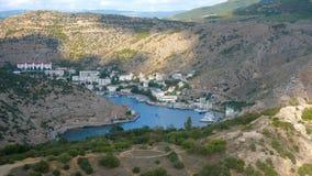 Widok zatoka Balaclava miasto lokalizować w Crimea zdjęcie wideo
