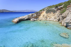 Widok zatoka Crete Grecja Fotografia Royalty Free