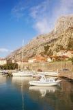 Widok zatoka Kotor blisko Starego miasteczka Kotor Montenegro Fotografia Royalty Free