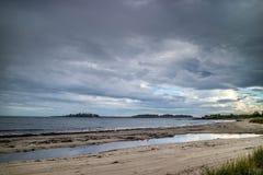 Widok zatoka od przylądka Elizabeth, Maine fotografia royalty free