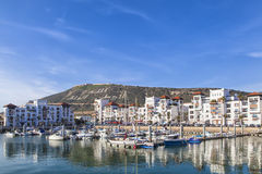 Widok zatoka z linią horyzontu Agadir Zdjęcia Royalty Free