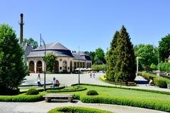 Widok zdroju dom w parku grodzki Kudowa Zdroj na Maju 20, 2014 Fotografia Stock