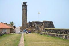 Widok Zegarowy wierza antyczny portuguese forteca Galle Obrazy Royalty Free