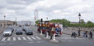 Widok zgoda most Pedestrians spacer wzdłuż mosta Zdjęcia Stock