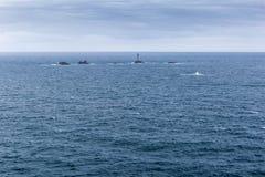 Widok ziemi końcówka w Cornwall Obraz Royalty Free